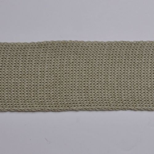Olive 6 cm Knitted Rib tape by the metre 100% Cotton